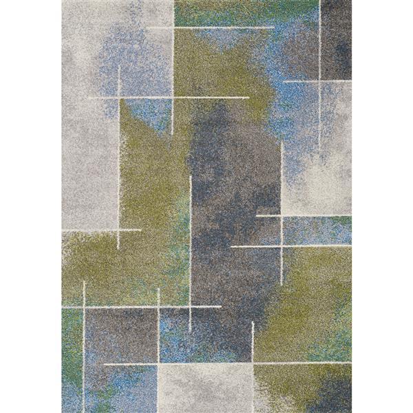 Tapis Camino de Kalora, 5' x 8', gris