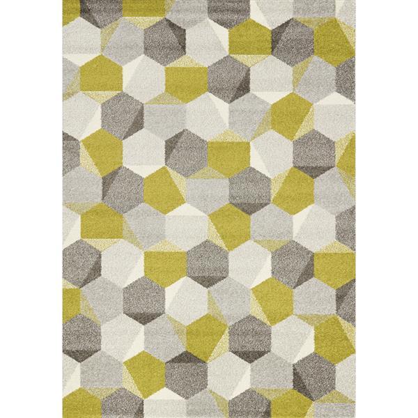 Tapis rayon de miel Camino de Kalora, 7' x 10', vert