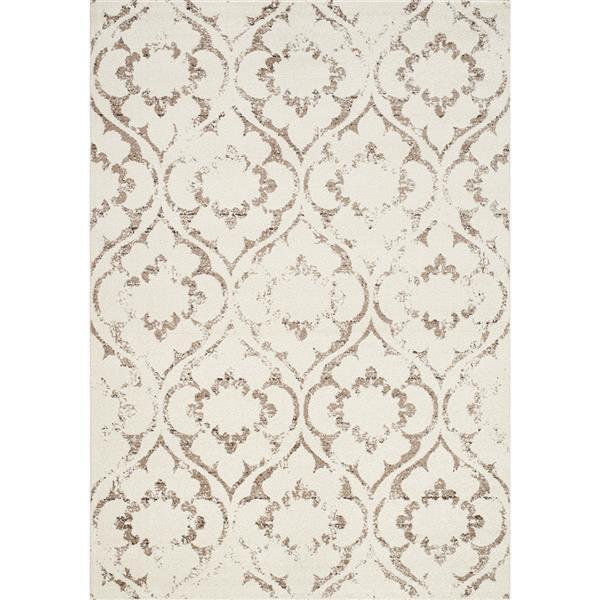 Kalora Camino Hidden Flower Pattern Rug - 8' x 11' - Brown