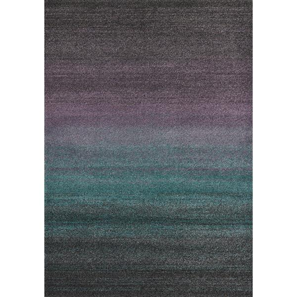 Tapis Ashbury de Kalora, 8' x 11', mauve/sarcelle