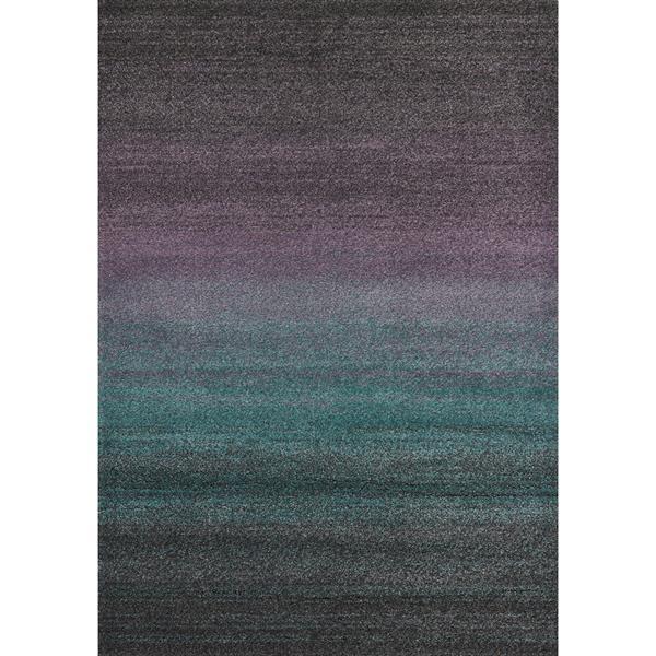 Tapis Ashbury de Kalora, 2' x 4', mauve/sarcelle