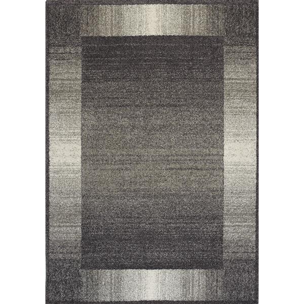 Tapis bordure Ashbury de Kalora, 5' x 8', gris