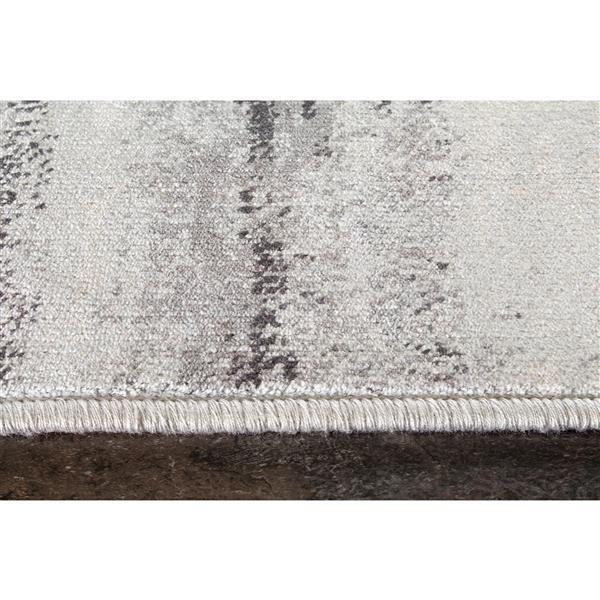 Tapis délavé Antika de Kalora, 7' x 10', gris