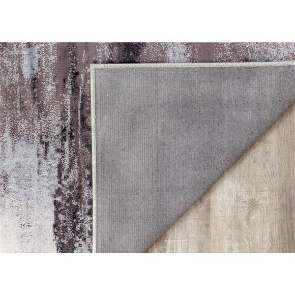 Tapis délavé Antika de Kalora, 5' x 8', gris