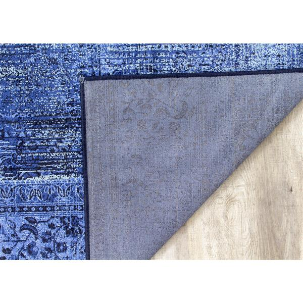 Tapis brillant Antika de Kalora, 7' x 10', bleu marin