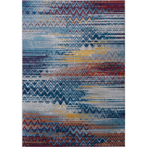 Tapis délavé Antika de Kalora, 7' x 10', bleu