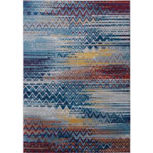 Tapis délavé Antika de Kalora, 5' x 8', bleu