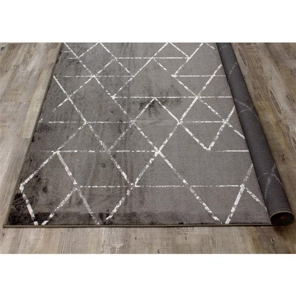 Tapis triangles Antika de Kalora, 7' x 10', noir