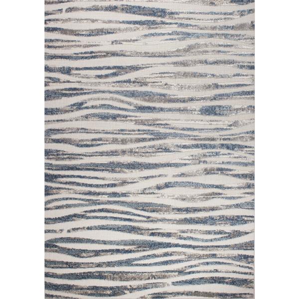 Tapis vagues simple Alta de Kalora, 8' x 11', crèm