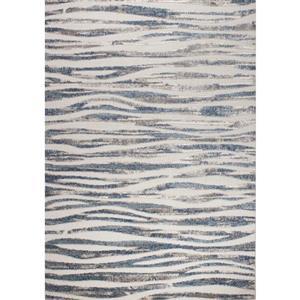 Tapis vagues simple Alta de Kalora, 5' x 8', crèm
