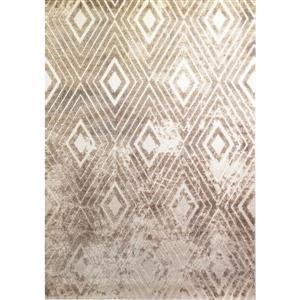 Kalora Alta Distressed Diamond Rug - 8' x 11' - Beige