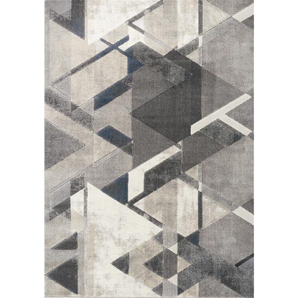 Tapis triangles Alida de Kalora, 5' x 8', crème