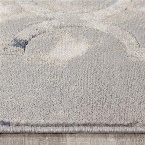 Tapis Ogee Alida de Kalora, 5' x 8', gris