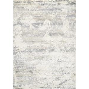Tapis délavé de Kalora, 5' x 8', crème