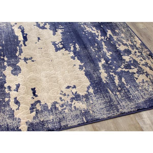Tapis délavé Alida de Kalora, 7' x 10', bleu