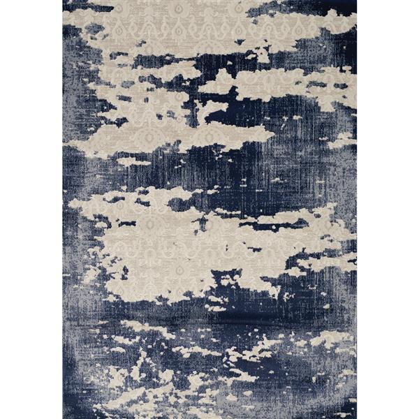 Tapis délavé Alida de Kalora, 2' x 4', bleu
