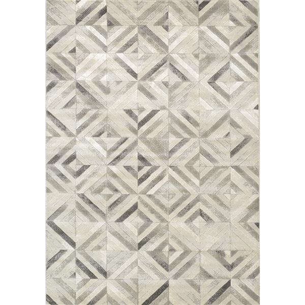 Tapis avec tuiles Alaska de Kalora, 5' x 8', gris