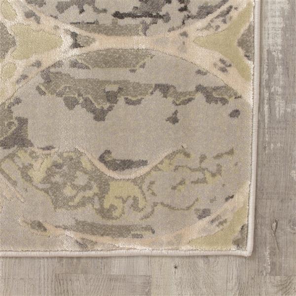 Tapis avec ovales Alaska de Kalora, 5' x 8', gris