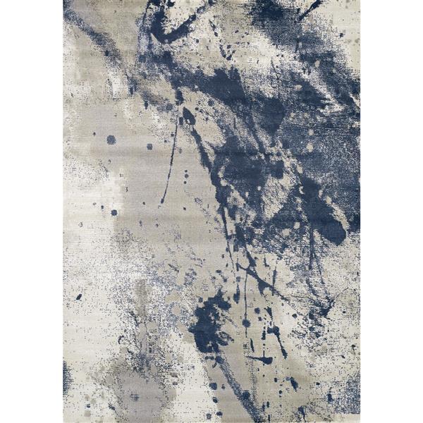 Tapis explosion de couleurs Alaska de Kalora, 5' x 8', gris