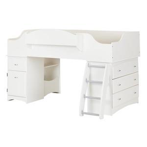 Lit mezzanine Imagine, blanc