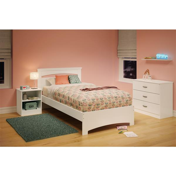 South Shore Furniture Libra Panel Bed - Brown - 44-in x 79-in - Twin
