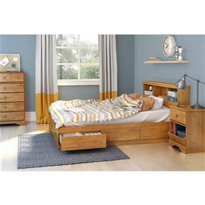 South Shore Furniture 3 Drawer Country Pine 56-in x 76.25-in Little Treasures Mates Bed
