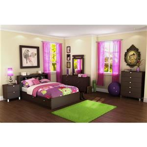 South Shore Furniture 4 Drawer Chocolate Spark Mates Bed