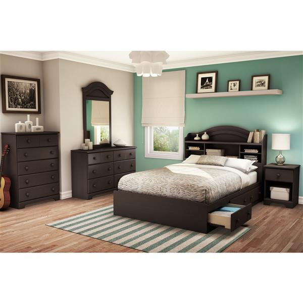 South Shore Furniture Summer Breeze Mates Bed 3 Drawers - Chocolate - Double