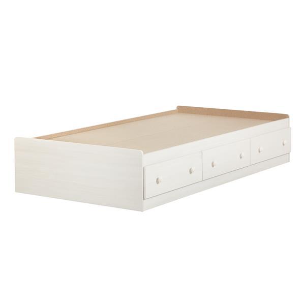 Lit matelot avec 3 tiroirs Summer Breeze, blanc antique