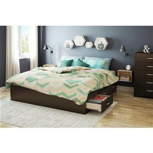 South Shore Furniture 6 Drawer Step One Platform King Bed