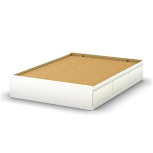 South Shore Furniture 3 Drawer Pure White Step One Mates Bed
