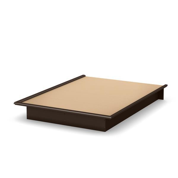 Lit plateforme Step One, chocolat, grand lit