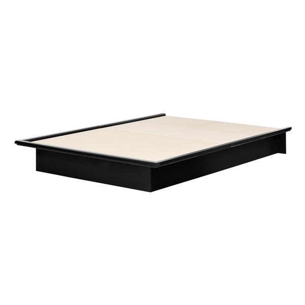 South Shore Furniture Pure Black Step One Platform Full Bed