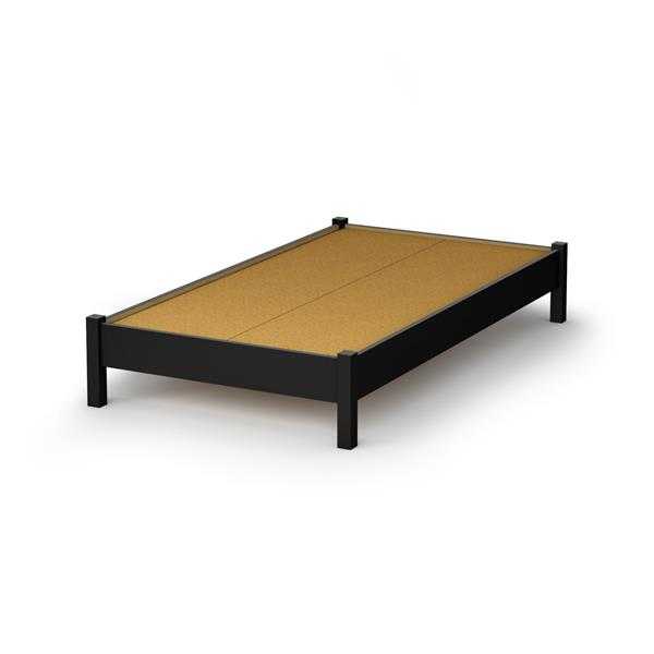 Lit plateforme Step One, noir, simple