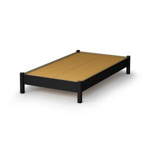South Shore Furniture Pure Black Step One Platform Twin Bed