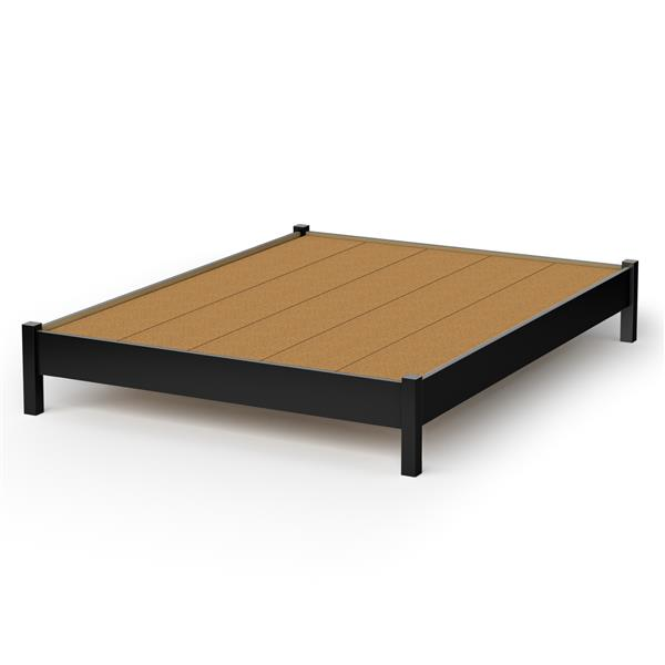 South Shore Furniture Pure Black Step One Platform Queen Bed