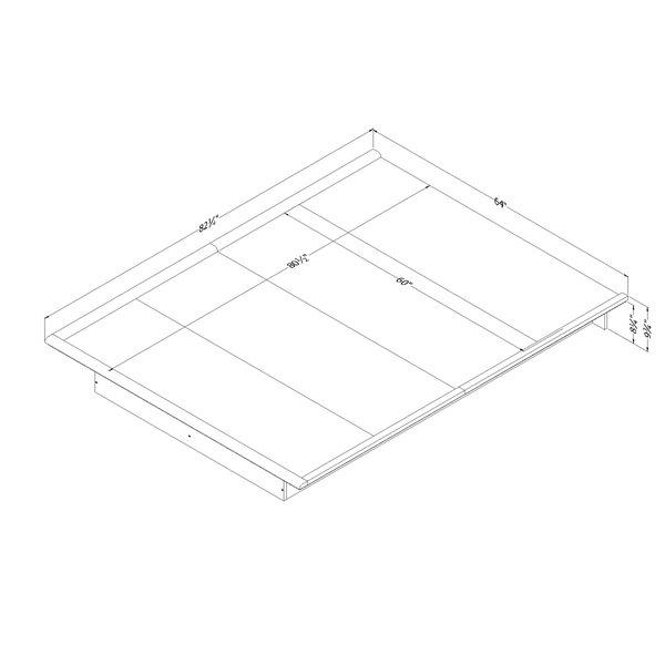 Lit plateforme Step One, blanc, grand lit