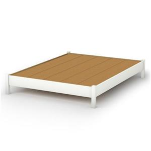 Step One Platform Bed - Pure White