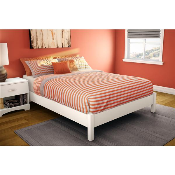 South Shore Furniture Pure White Step One Platform Full Bed