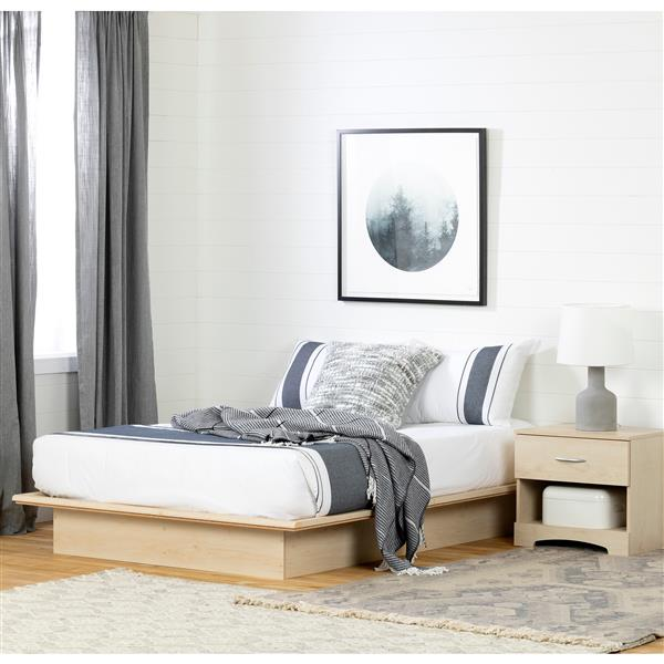 South Shore Furniture Natural Maple Step One Platform Full Bed
