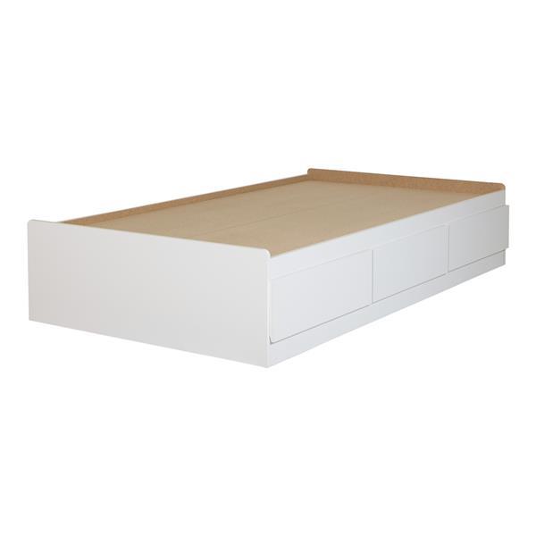 South Shore Furniture  3 Drawer Pure WhiteSweedi Mates Bed