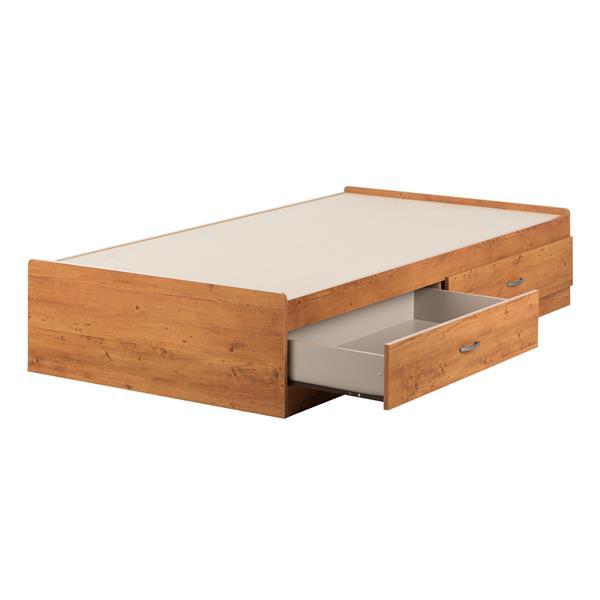 Lit matelot avec 2 tiroirs Logik, pin champêtre, simple