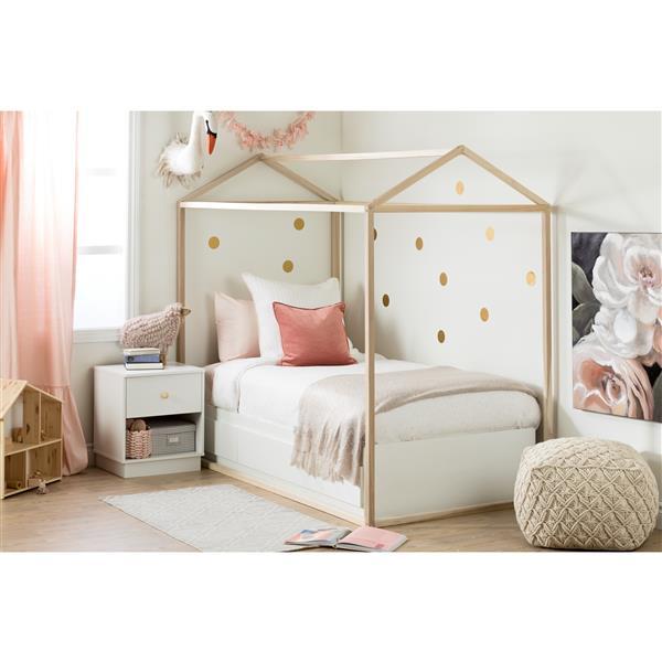 Maison de lit Sweedi, peuplier naturel