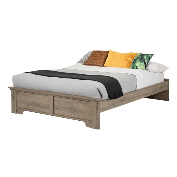 Lit plateforme Versa, chêne vieilli, grand lit
