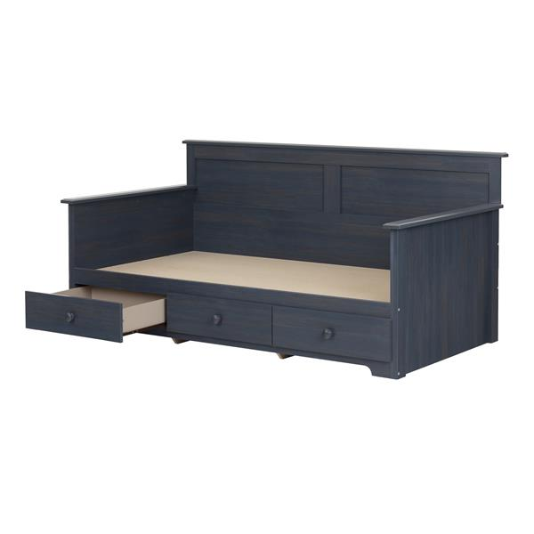 South Shore Furniture Blueberry Summer Breeze Daybed with Storage