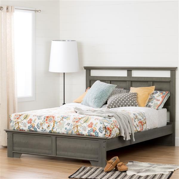 Lit plateforme Versa, érable cendré, grand lit