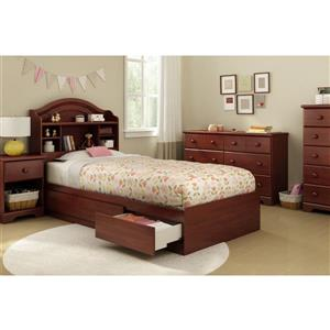 South Shore Furniture 3 Drawer Royal Cherry Step One Mates Bed