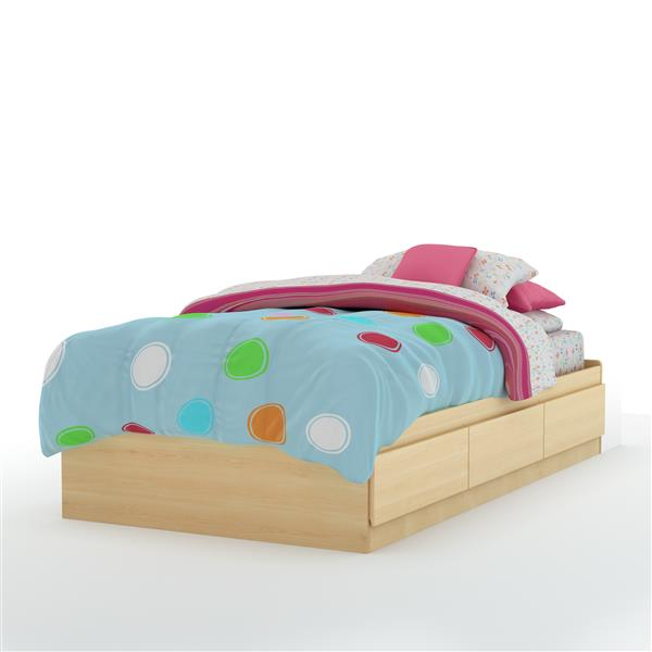 South Shore Furniture 3 Drawer Natual Maple Step One Mates Bed