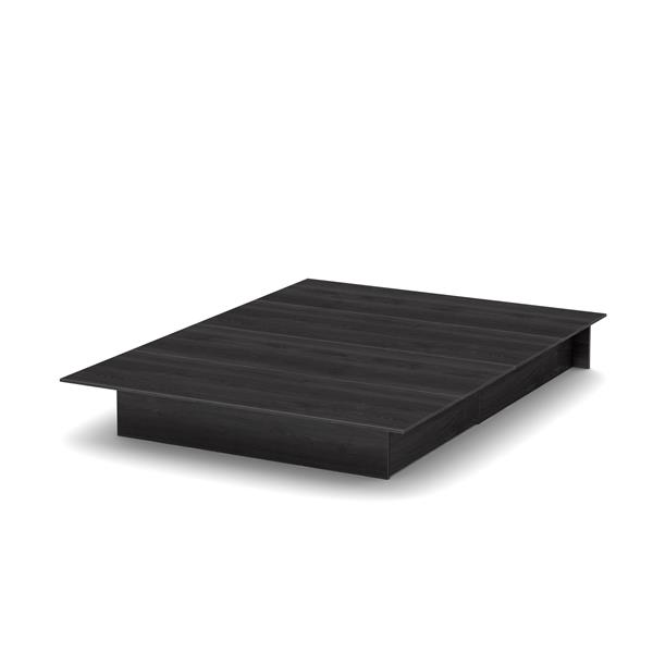 Lit plateforme Step One, chêne gris, grand lit