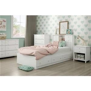 South Shore Furniture Pure White 3 drawer 40.50-in x 76.50-in Little Smileys Mates Bed